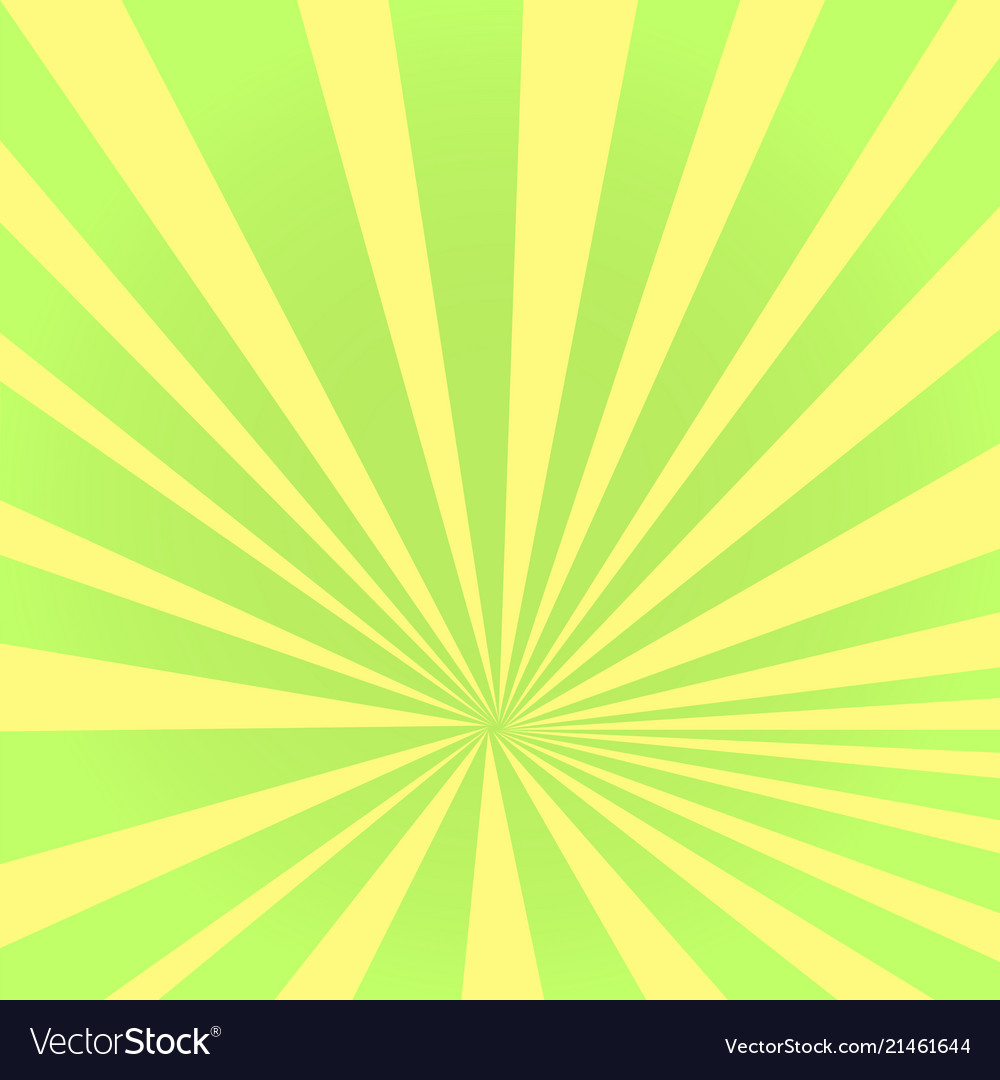Pop art background the rays of the sun green