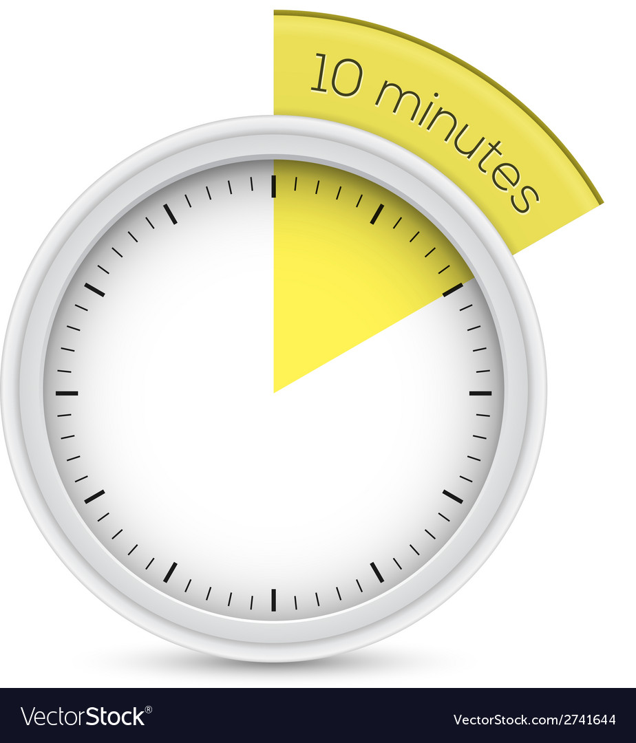 stop watch 10 minutes timer vector image