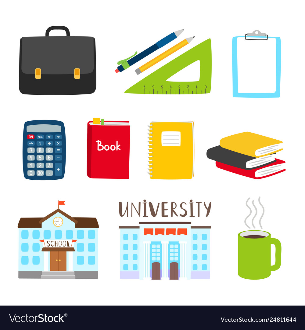 Teachers and students tools icons subjects