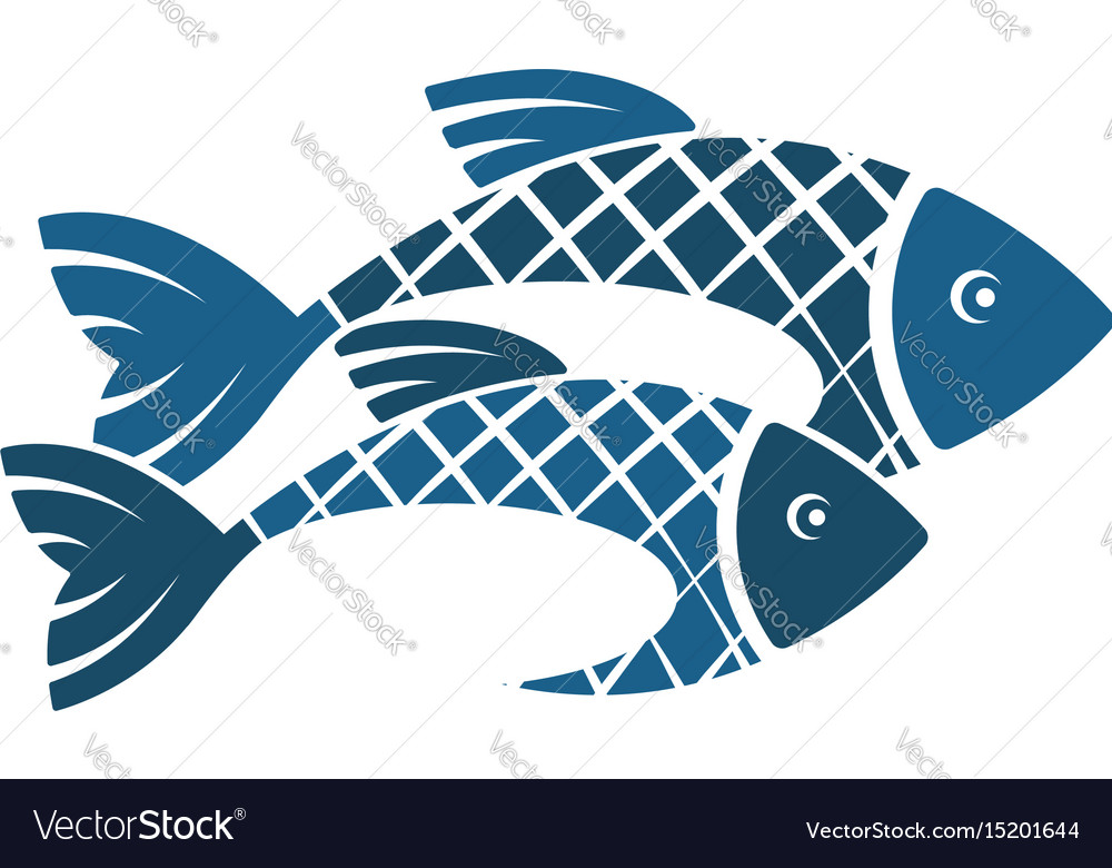 Two fish silhouette