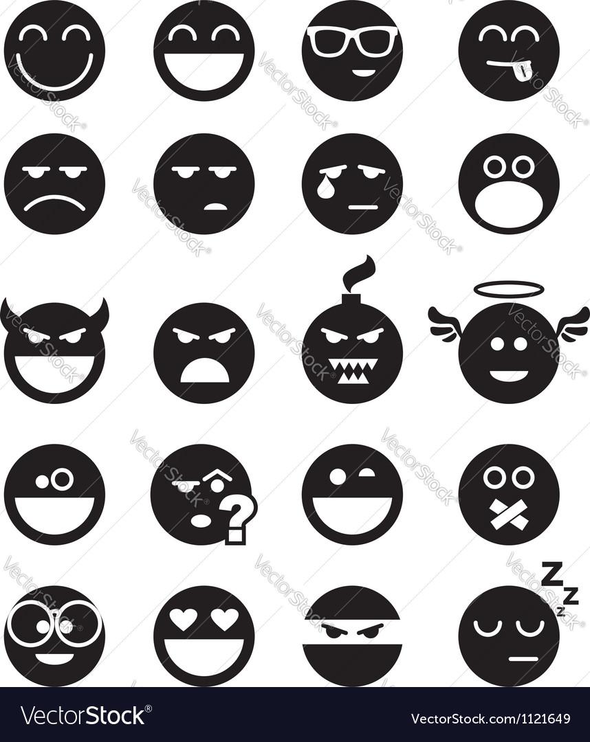 Black smiles vector image