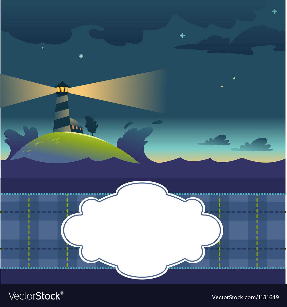 Card With Lighthouse vector image