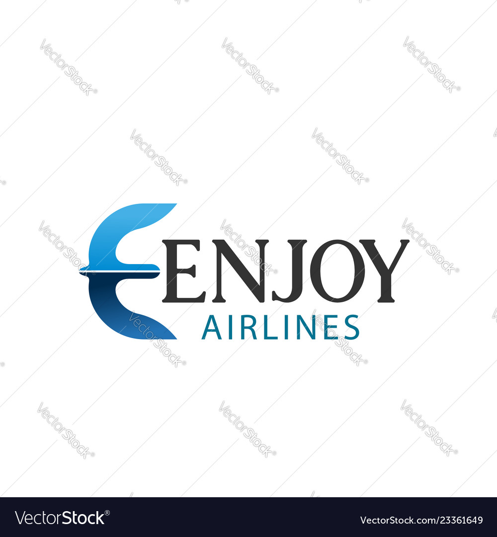 E letter icon for enjoy airlines company