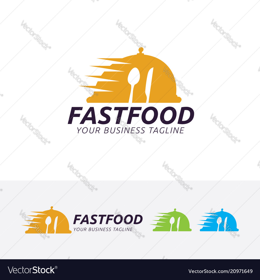 Fast food logo design vector image