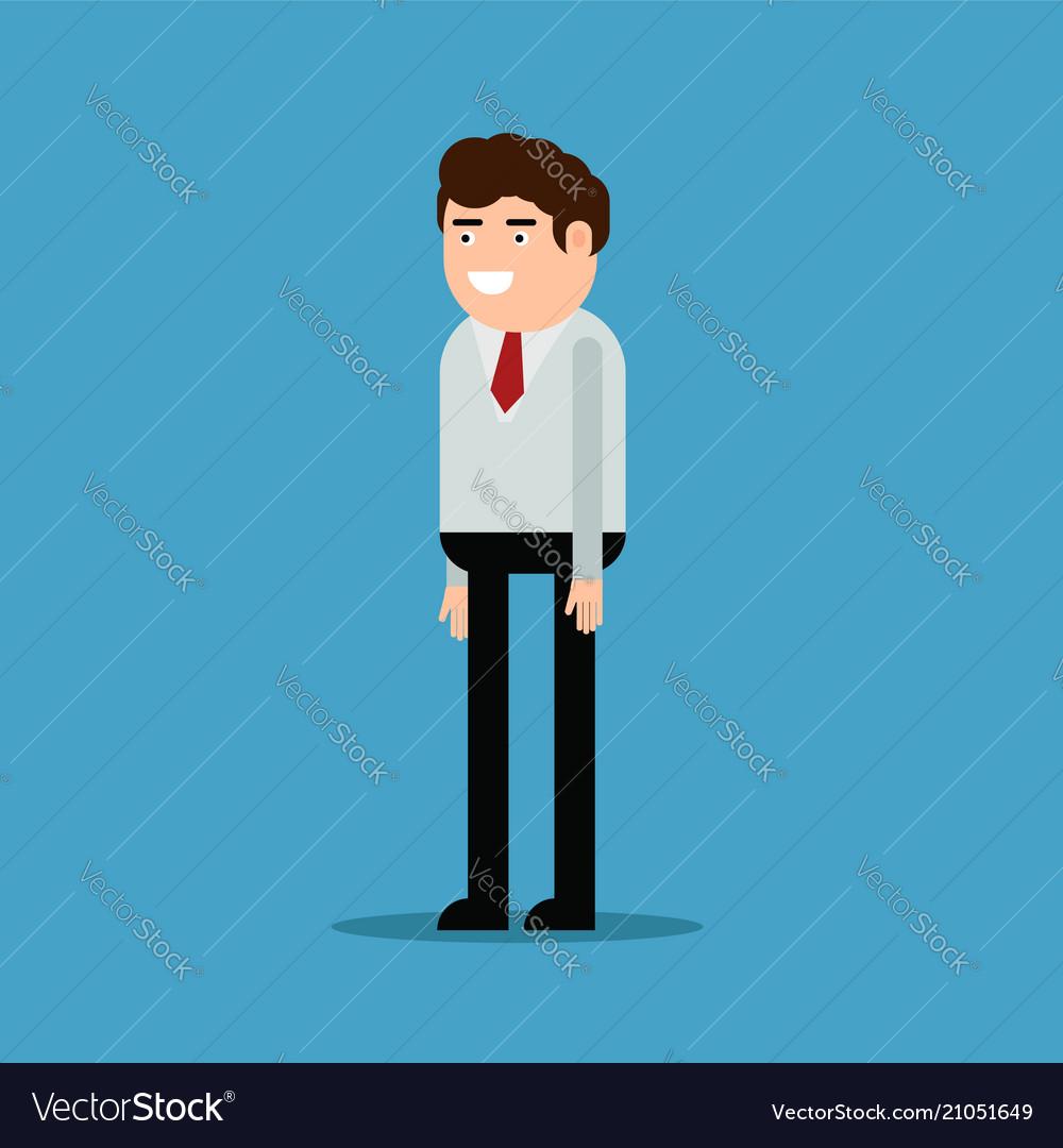 Happy businessman flat style