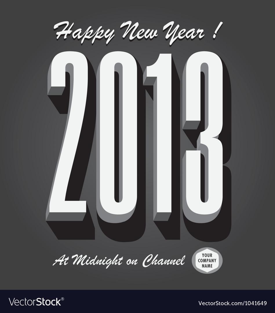 Happy new year 2013 retro