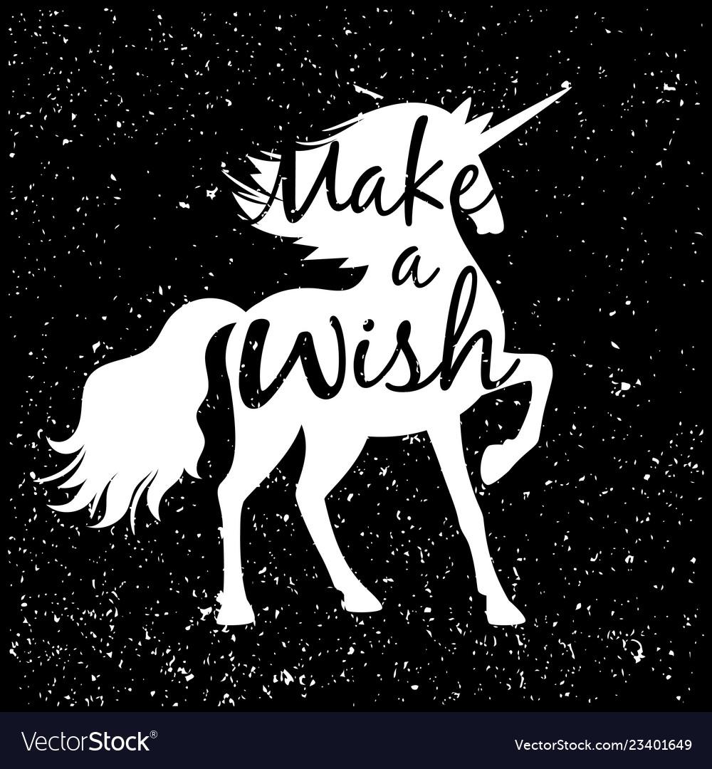 Unicorn silhouette poster