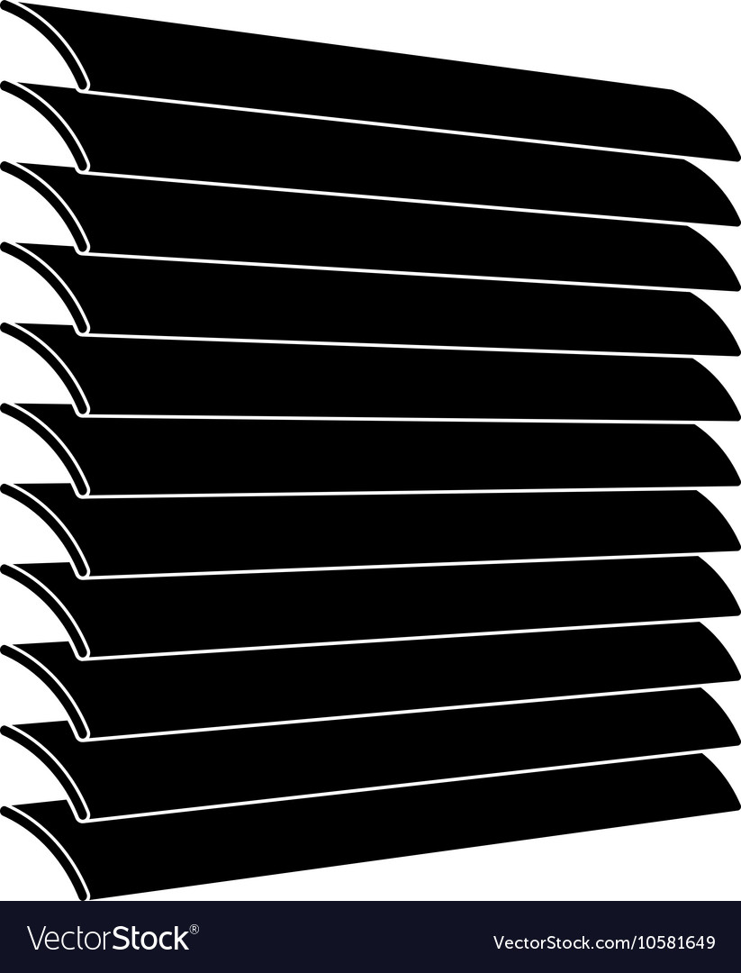 Venetian Blinds Black Symbol Royalty Free Vector Image
