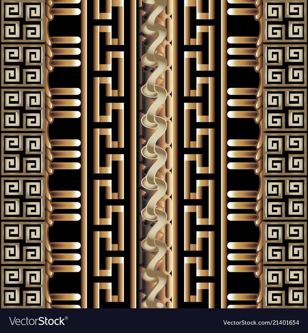 3d striped greek seamless borders pattern