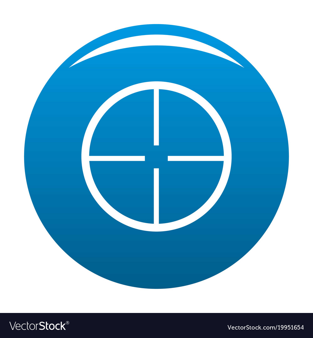 Get Aim Icon Blue