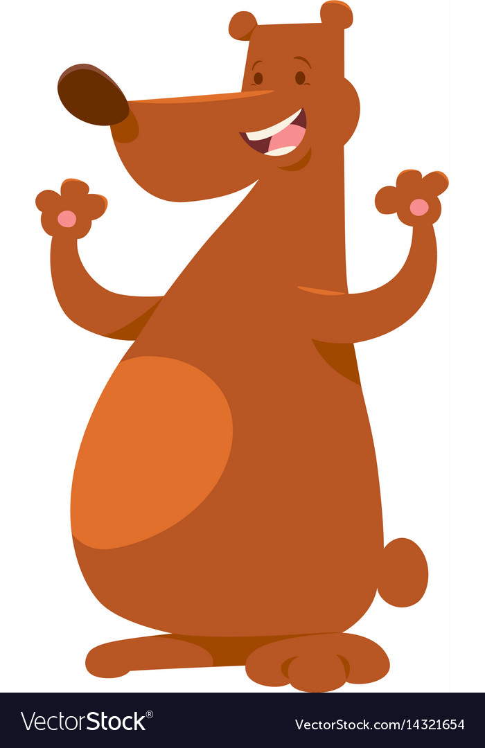 Bear wild animal character