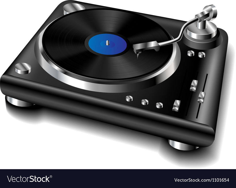 Black turntable
