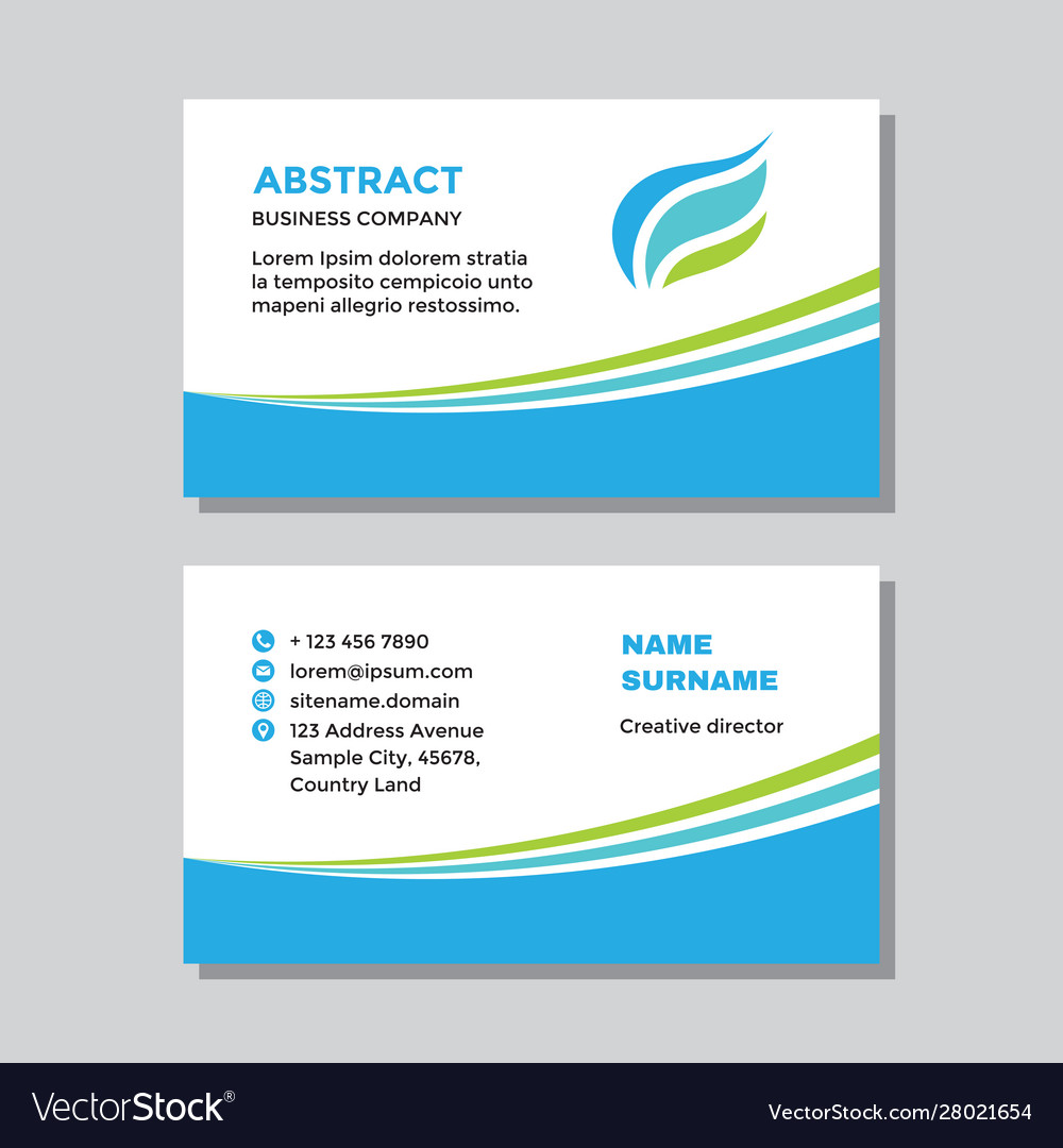 Business card template with logo - concept design