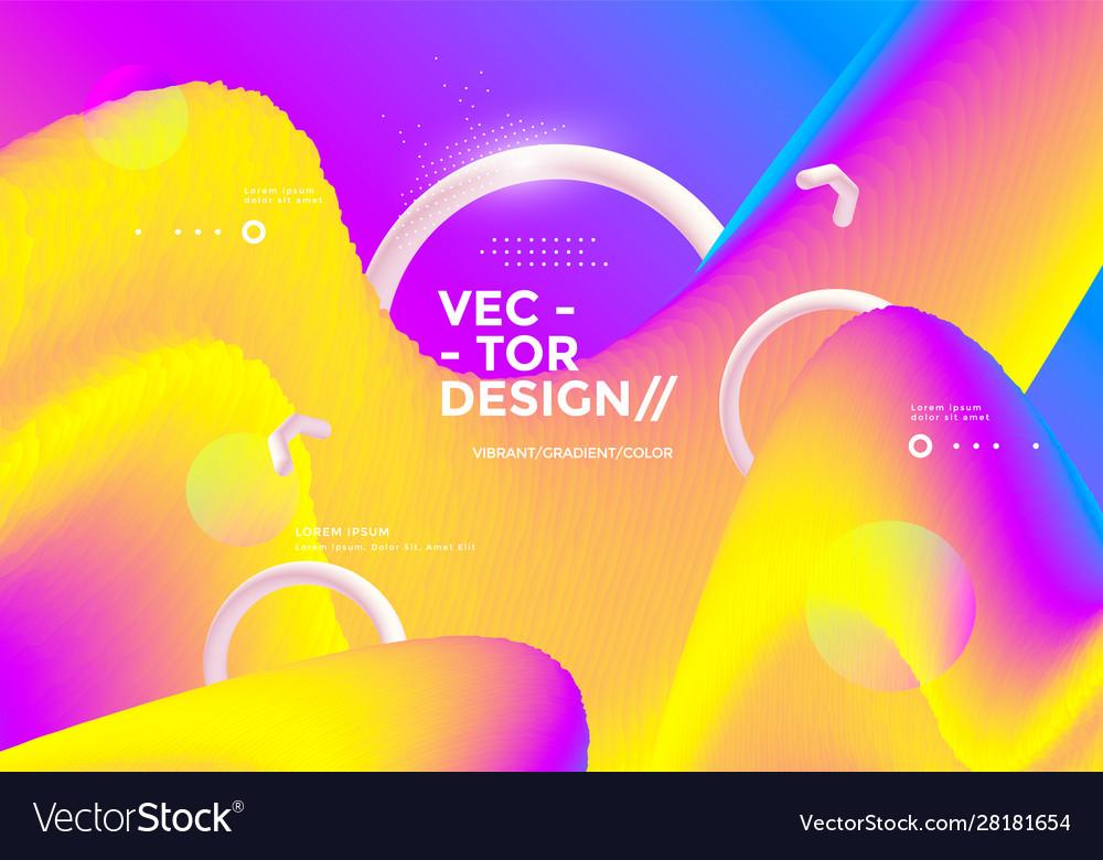 Colorful 3d flow shapes liquid wave modern