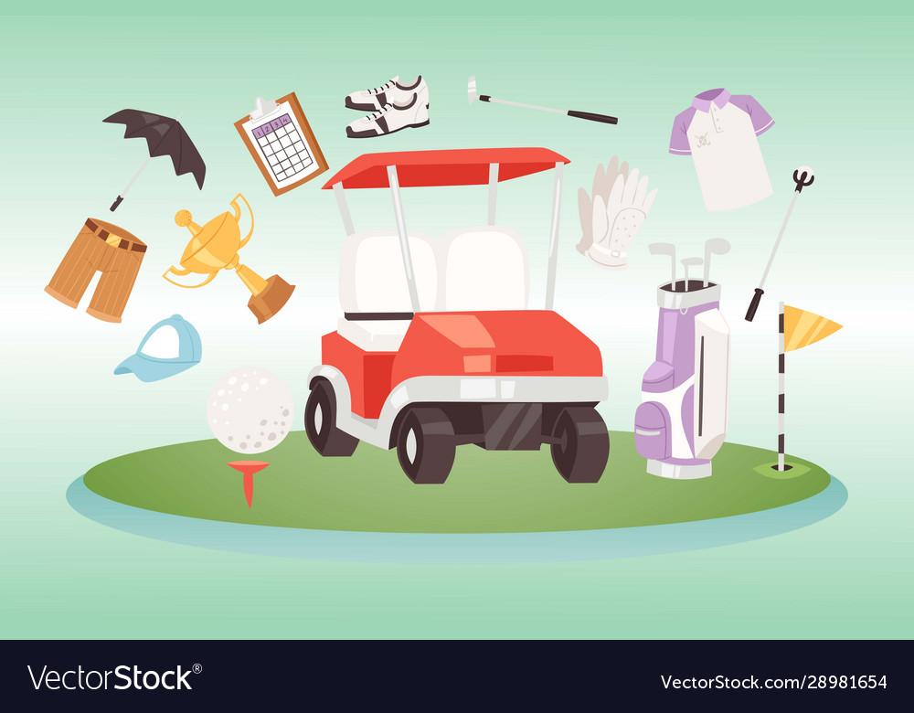 Golf and golfing sport design elements