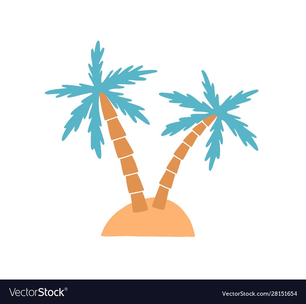 Island palm tree on exotic