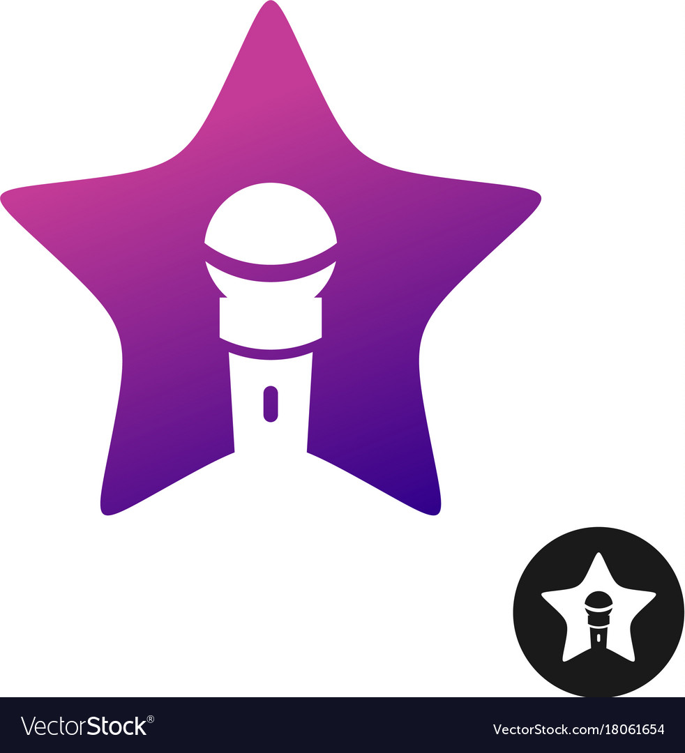 Karaoke star logo