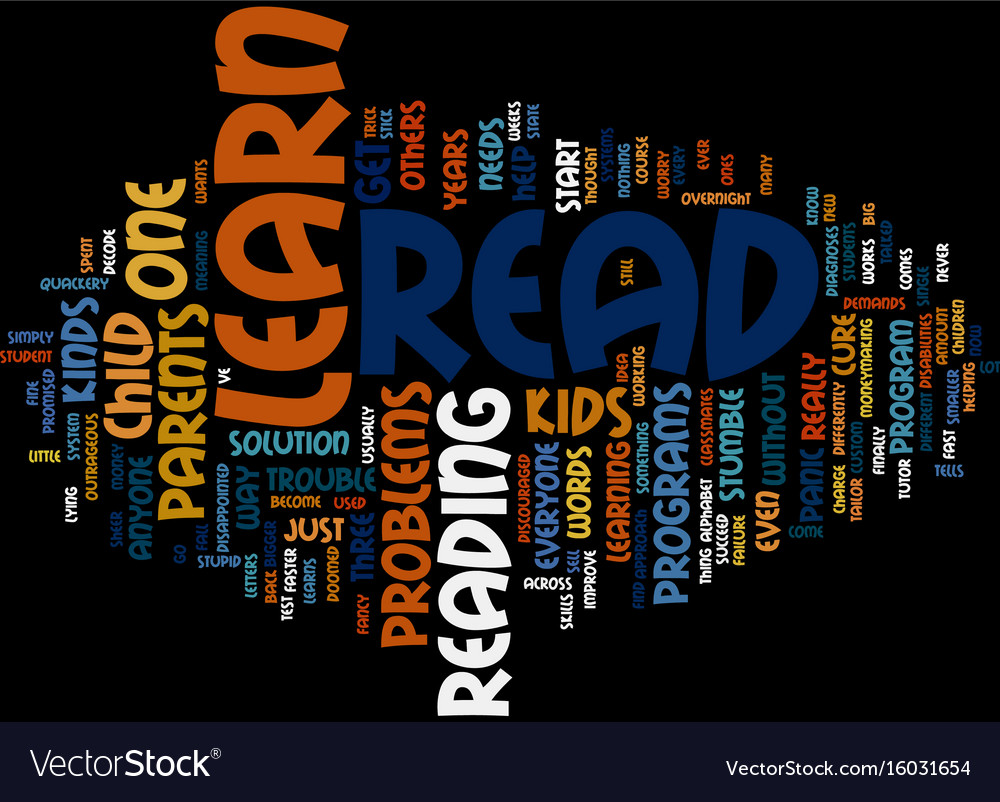 Learn how to read text background word cloud
