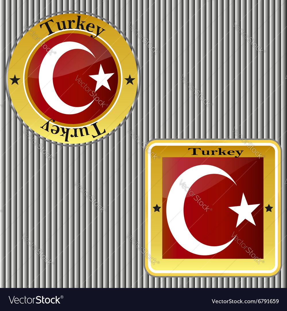 Flag turkey symbol turkish national country icon