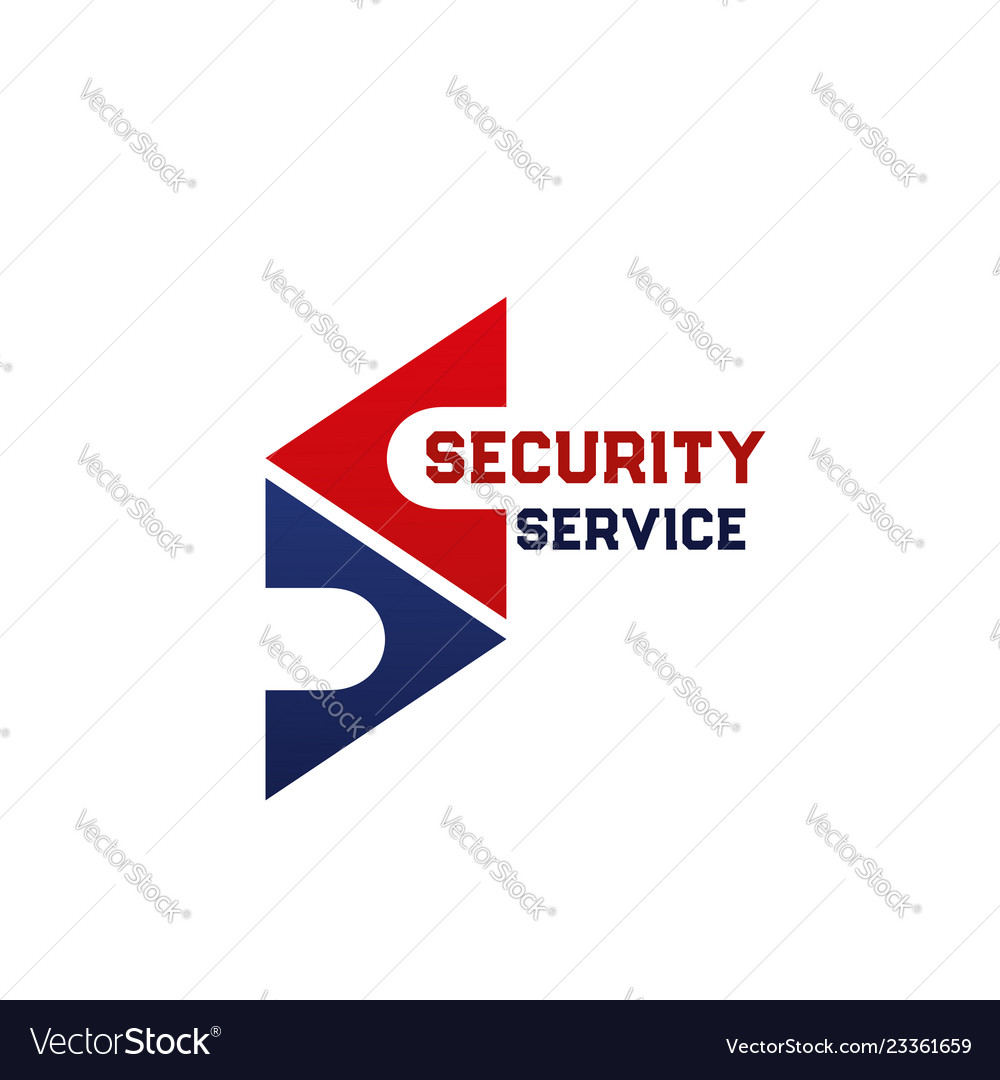 Security service icon of company branding template