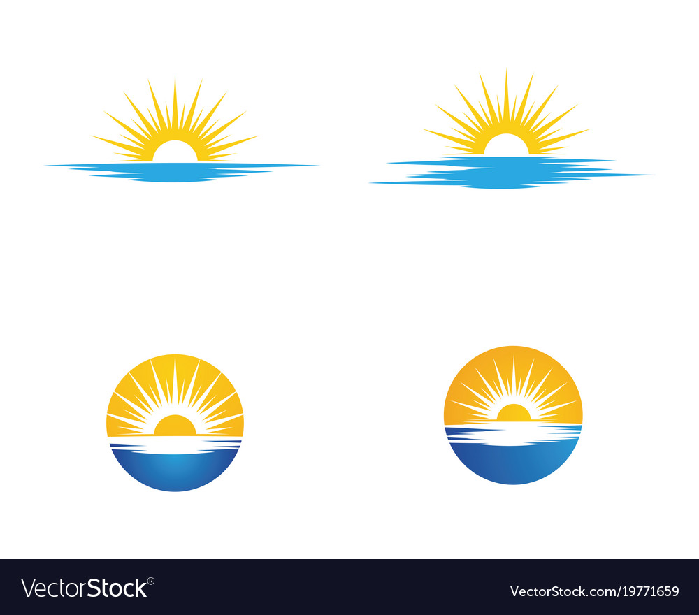 Sun icon logo template