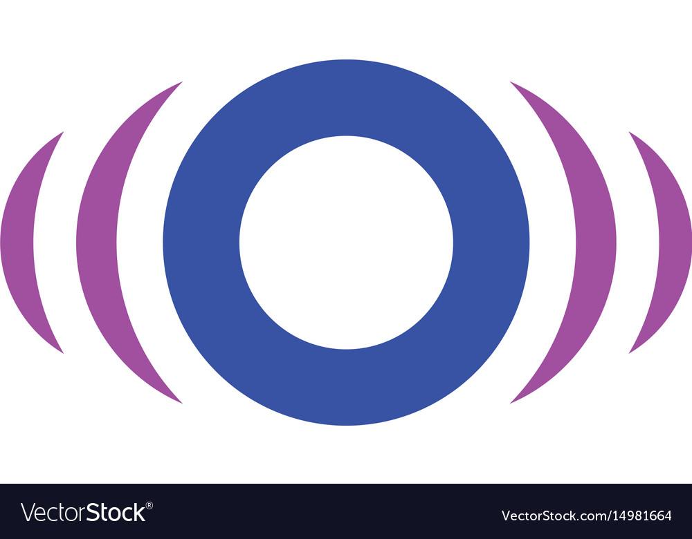 Abstract circle sensor logo image