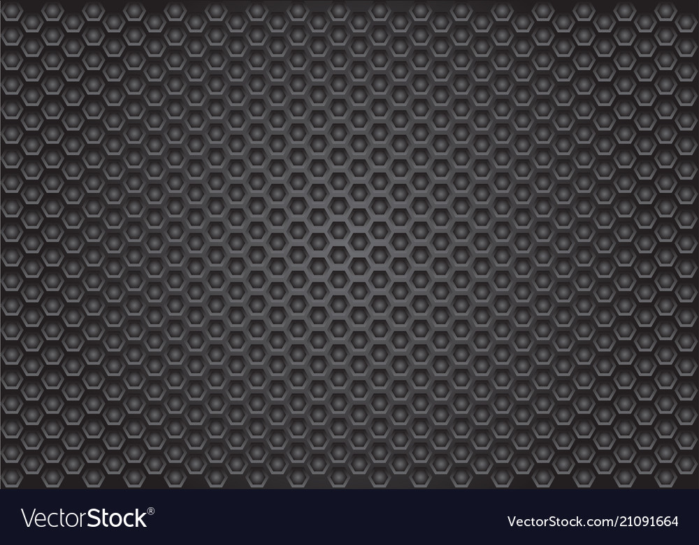 Abstract dark gray hexagon pattern design