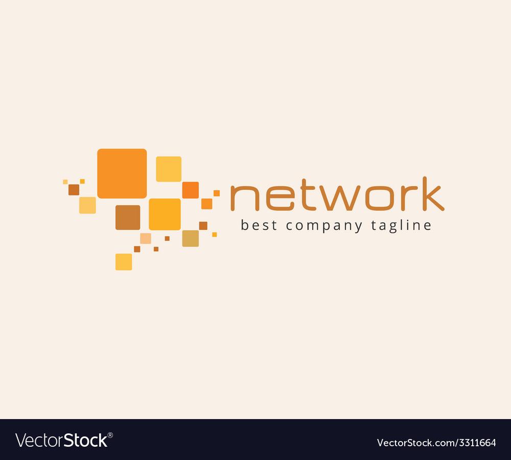 Abstract network logo icon concept Logotype vector image