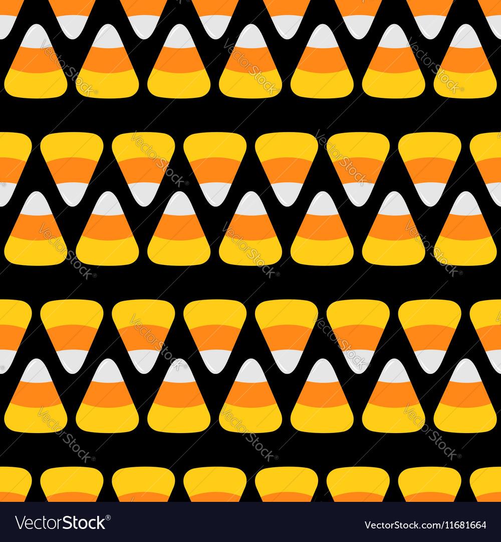 Candy corn line Happy Halloween Seamless Pattern