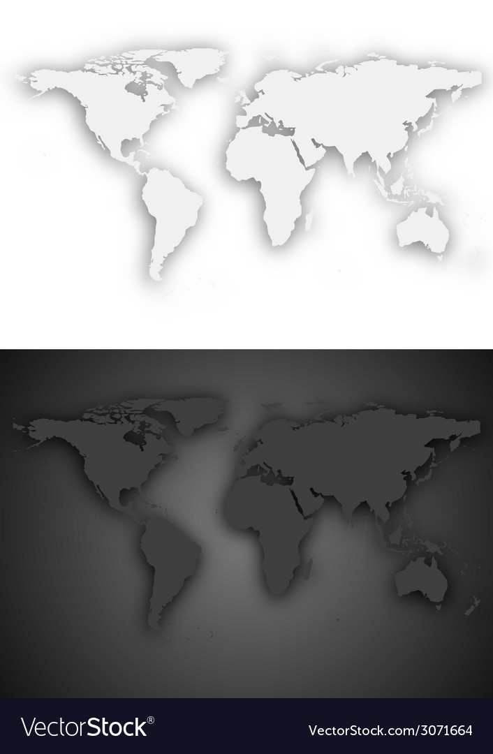 Dark and light grey world map design royalty free vector dark and light grey world map design vector image gumiabroncs Image collections