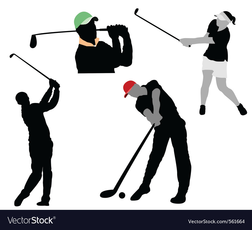 Golfer Silhouette Royalty Free Vector Image Vectorstock