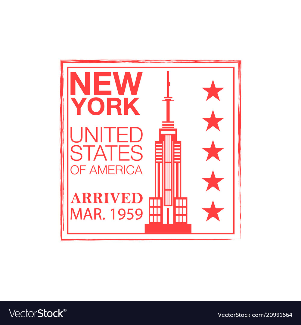 New york arrival ink stamp on passport