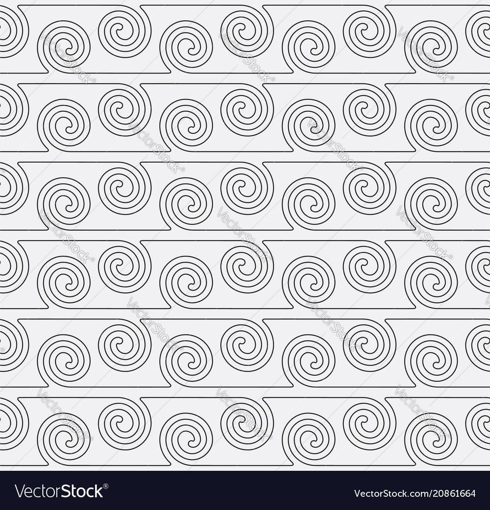 Seamless pattern with curve lines swirl geometric