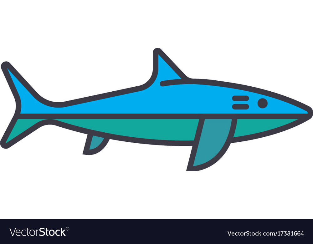 Shark flat line concept