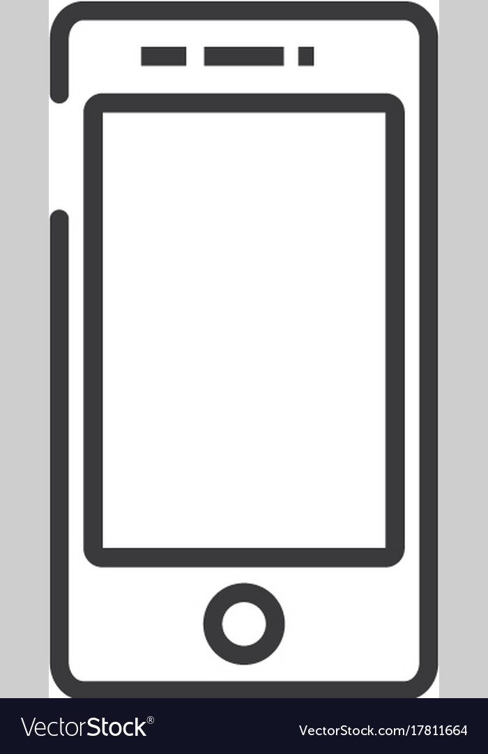 Smartphone sign line icon sign
