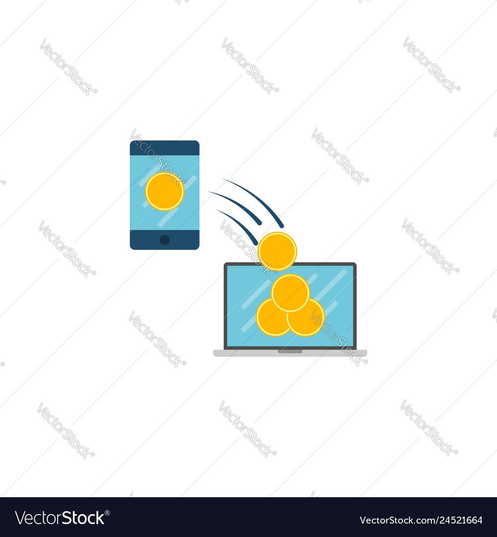 Transaction concept flat icon