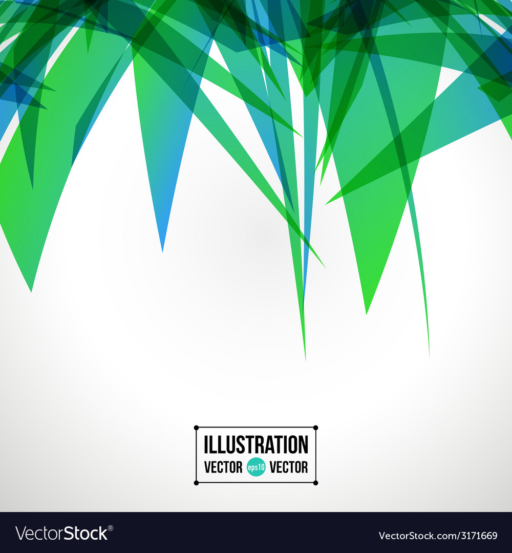 Abstract background of green fragments