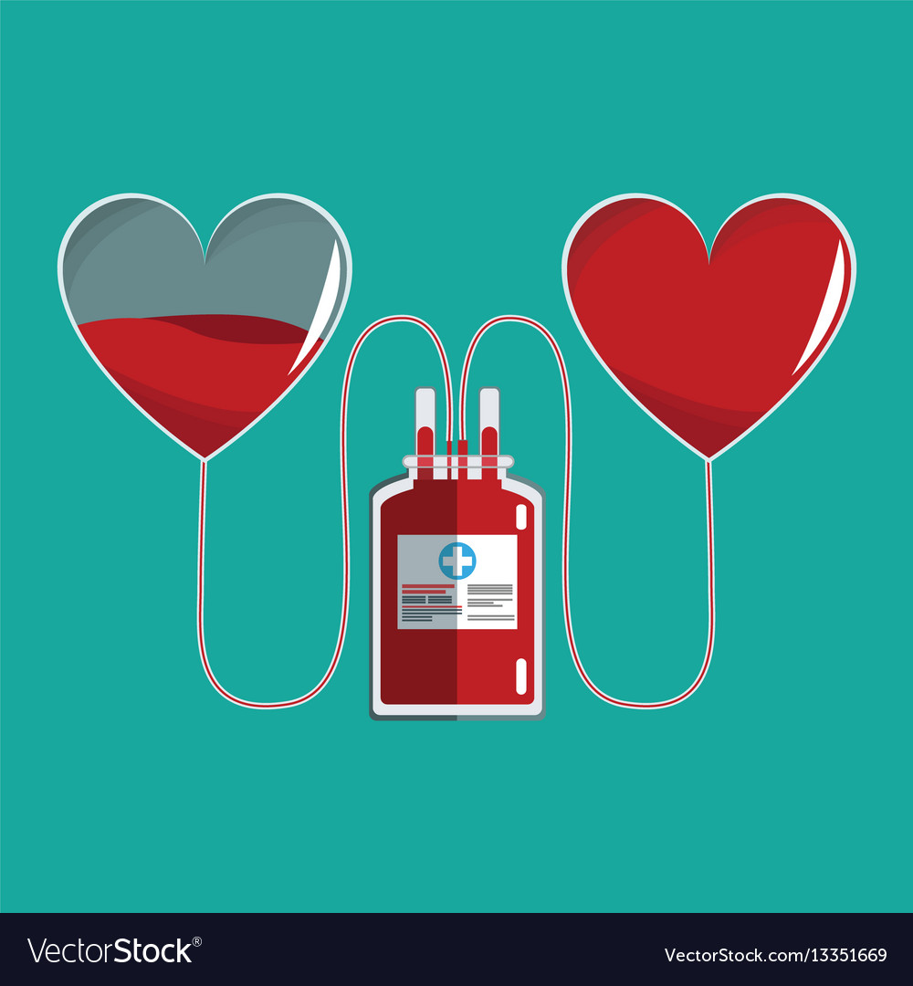 Bag transfusion hearts blood