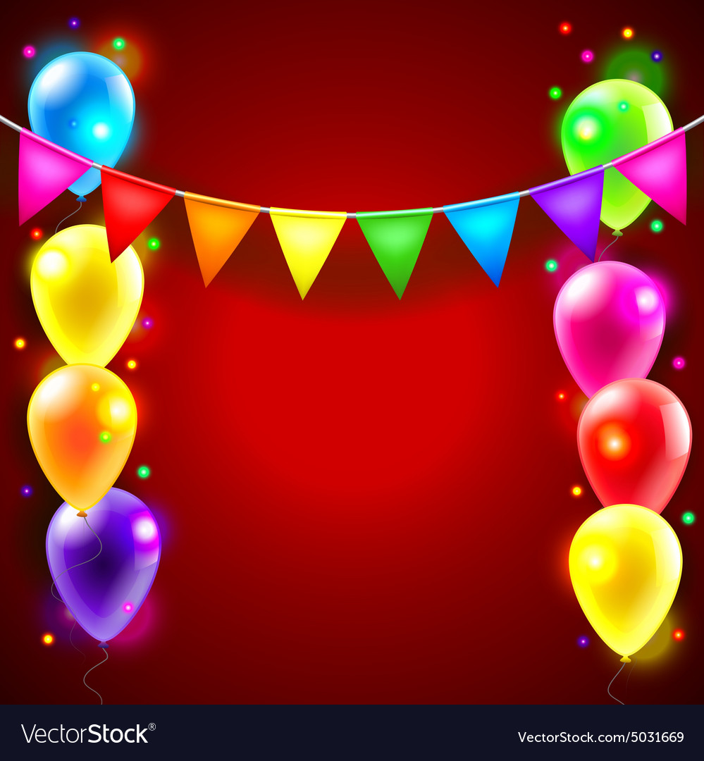 Birthday Or Party Background Royalty Free Vector Image