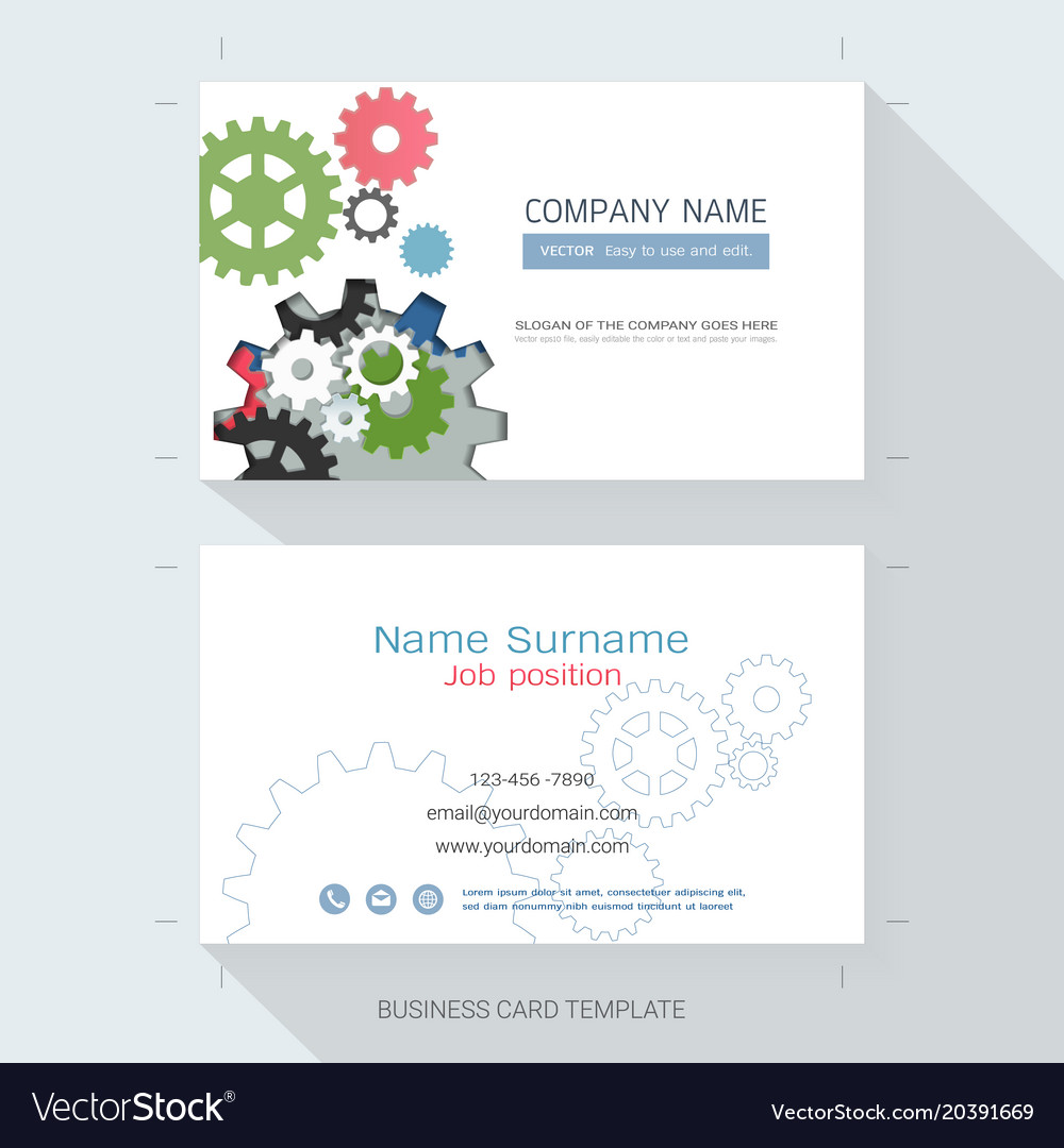 Engineering business card or name card template vector image flashek Image collections