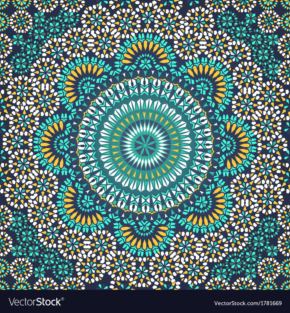 Seamless pattern in mosaic ethnic style