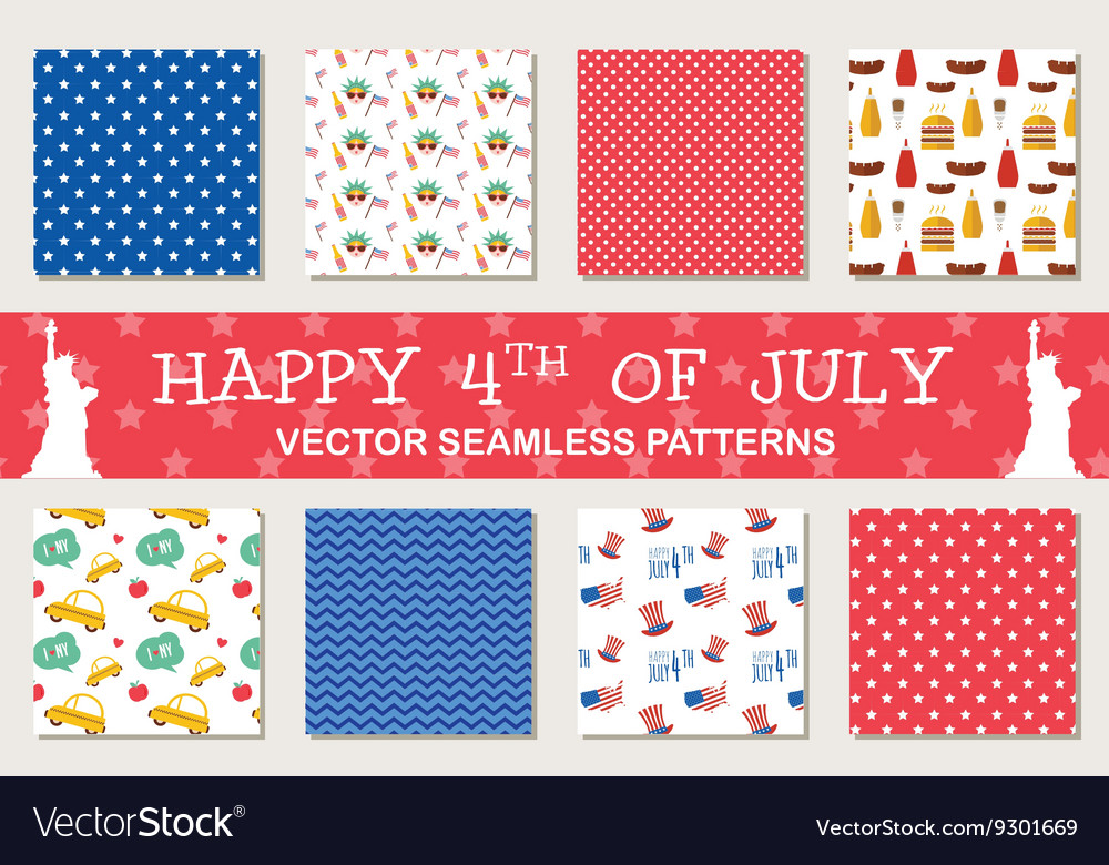 Seamless patterns for independence day of America