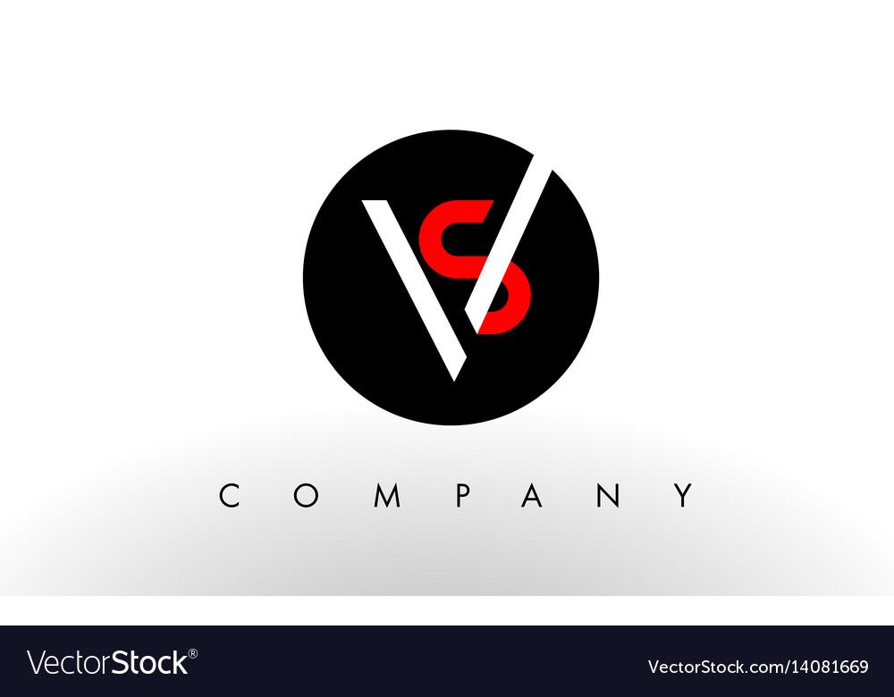Sv Logo Letter Design Royalty Free Vector Image