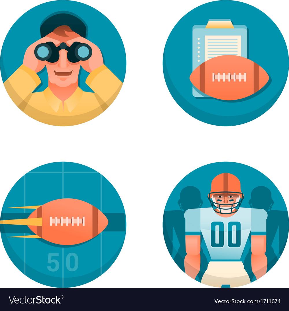 American football part 1 vector image
