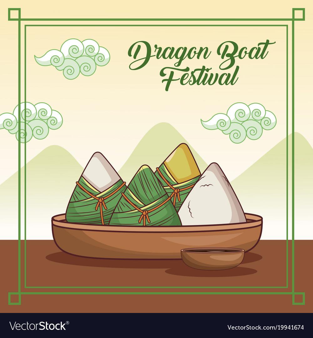 Dragon boat festival cartoon design