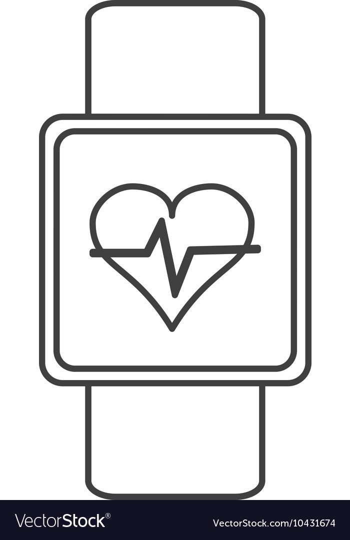 Heartbeat monitor wristband icon vector image