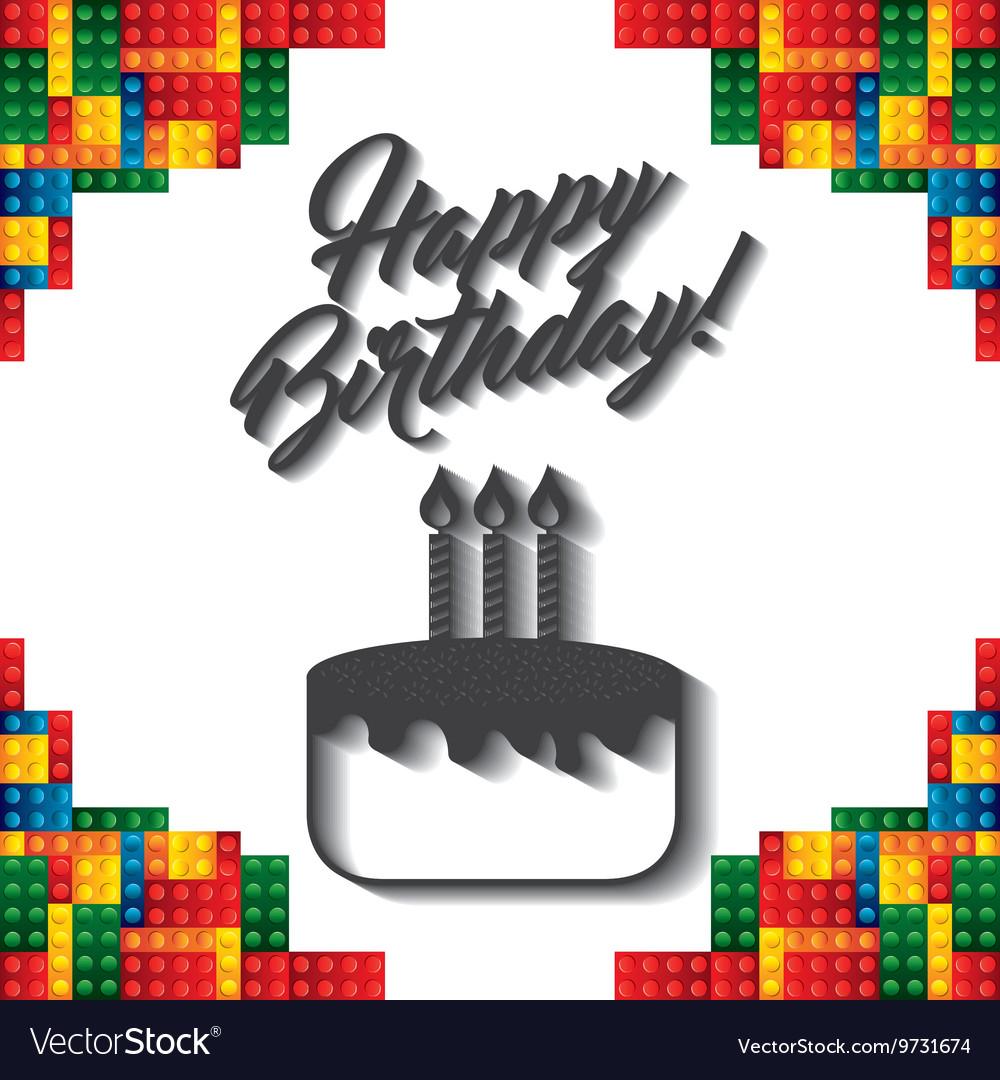 Lego frame icon happy birthday design royalty free vector lego frame icon happy birthday design vector image stopboris Gallery