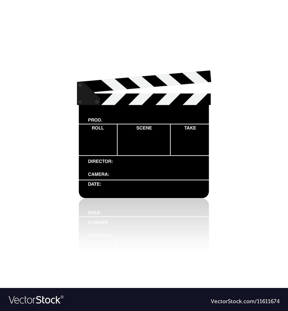 Movie film clapper board isolated