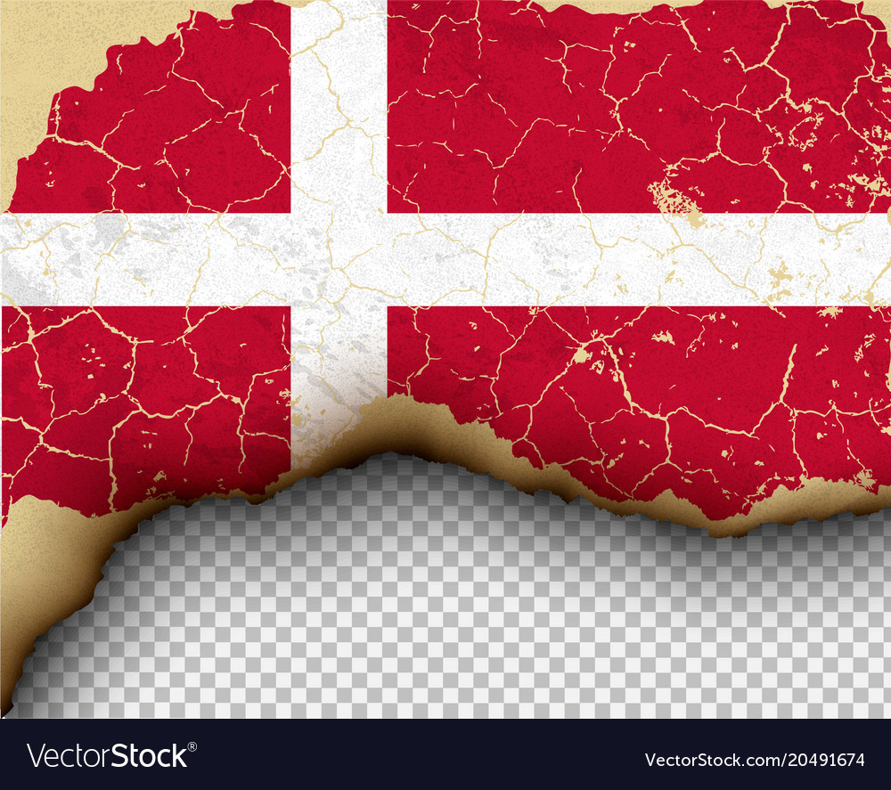 Ripped flag country torn paper burning vector image
