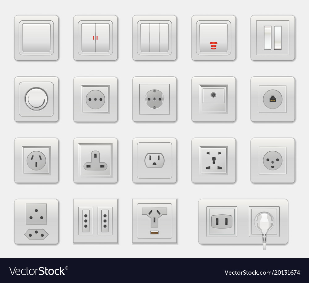 Set of different switches